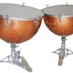 A pair of Ludwig balanced action timpani - ca. 1935