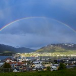 Tromso with Rainbow