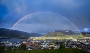 Tromso with Rainbow